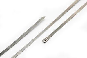 Стяжка металическая для термоленты 4.5х300mm inox