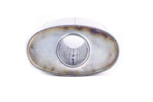 Пламегаситель овальный 160х90xL290 d54 с диффузором